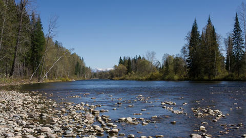 Mountain River 6 stock footage