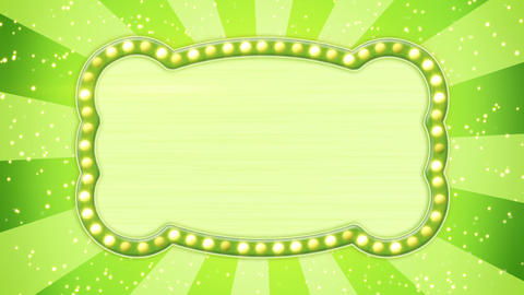 flash light bulbs green banner loop Animation