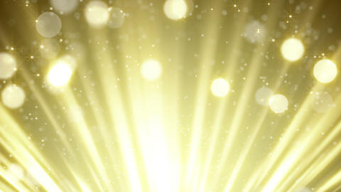 gold rays and bokeh circles abstract loopable back Animation