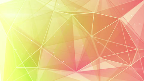 abstract triangle geometrical green pink backgroun Animation