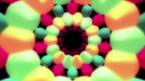 Bubbly rotating multicolored rings Animation