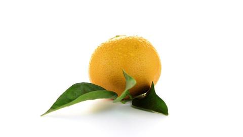 Ripe tangerine or mandarin Footage