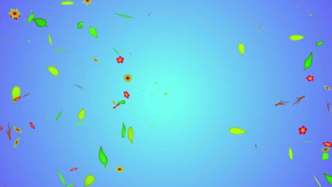 Love leaves particles Loop Animation - 4K Resoluti Stock Video Footage