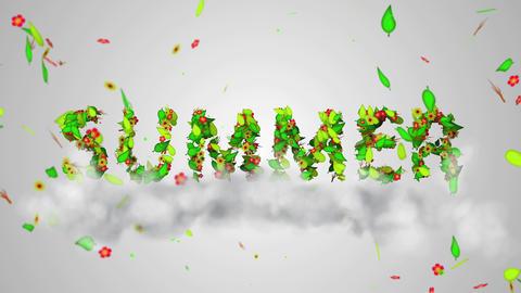 Summer leaves particles Loop Animation - 4K Resolu Animation