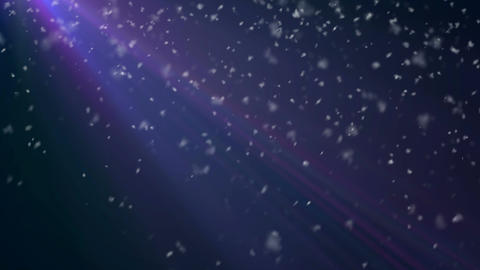 Heavy Snow Loop Blue background - 4K Resolution Ul Animation