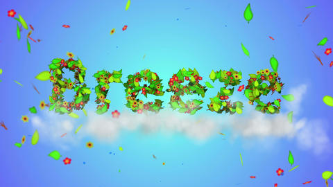 Breeze Leaves Particles Loop Animation - 4K Resolu stock footage