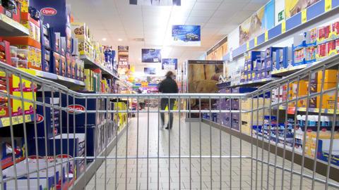Shopping Cart Time Lapse. 4K Footage