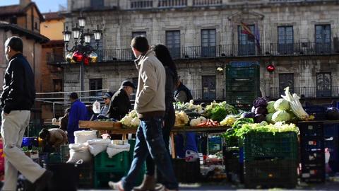 Street market time lapse Footage