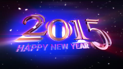 New Year 2015 Animation Stock Video Footage