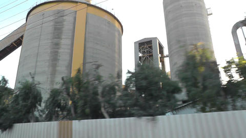 outside view of industry - industrial facility Live Action
