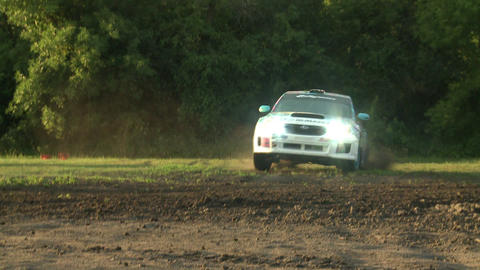 Rally Car Low Angle stock footage