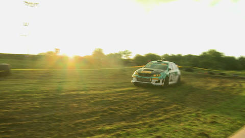 Rally Car Corner Drift stock footage