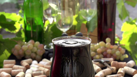 Drop Of Wine Create Splashes stock footage