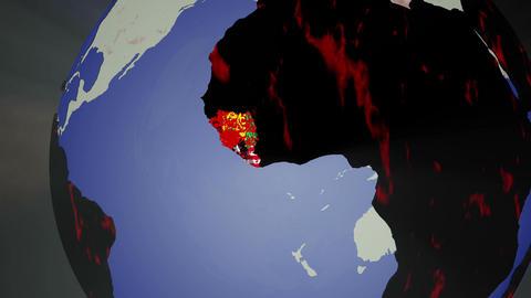 Ebola Virus Spread on Earth 3 D Animation 2 Animation