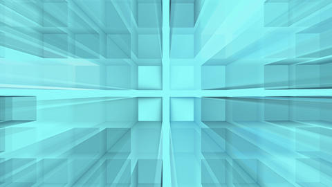 Abstract blue squares background - loop, HD Animation