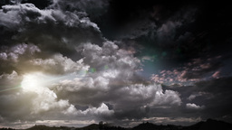 Dramatic Clouds 12 stock footage