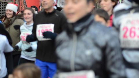 Marathon athletes running Footage