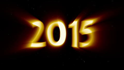 2015 New Year Coming in Light Rays Animation