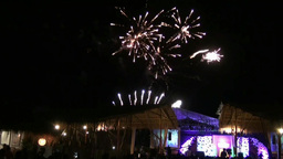Fireworks After Fashion Event In BALI (2/2) stock footage