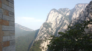 China Songshan Mountains 03 Pan Up stock footage