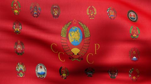 republic USSR flag HD Animation