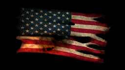 Perforated Burned Grunge American Glory Flag stock footage