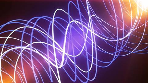 Purple Glow Neon Lines Animation