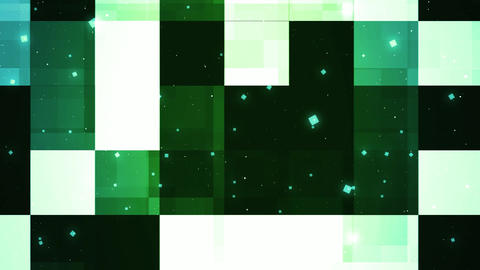 Green Reflected Panels Animation