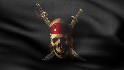 jolly Roger flag 4 K Animation