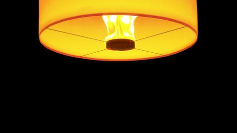 4k beautiful Lanterns float isolated on black ,whi Stock Video Footage