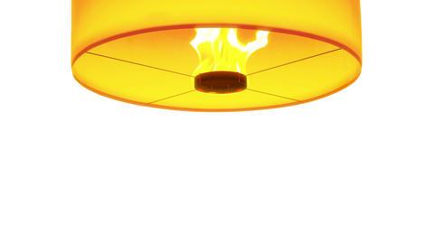 4k Beautiful Lanterns Float Isolated On Black ,whi stock footage
