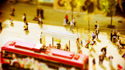 Beautifully Graded Tilt Shift Footage Of People Wa stock footage