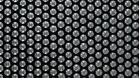Loopable waving gemstones or diamonds on black mat Animation