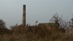 Landscape With Abandoned Factory stock footage