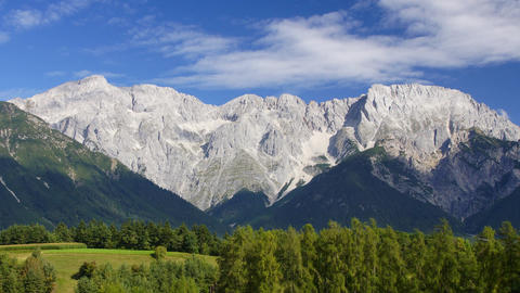 Tirol Mountain Range stock footage