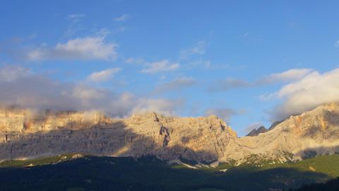 Dolomites Mountain Range stock footage