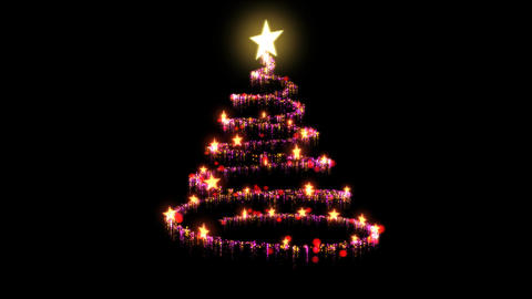 Rotating Christmas Tree Animation - Loop Red Animation