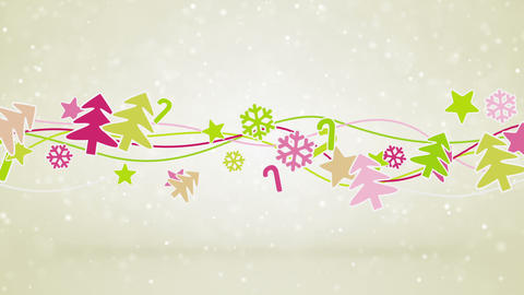christmas symbols loopable holiday background CG動画素材