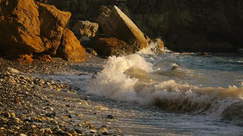 Marine, Rocky Seashore stock footage