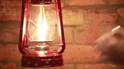 Kindle kerosene lamp Footage