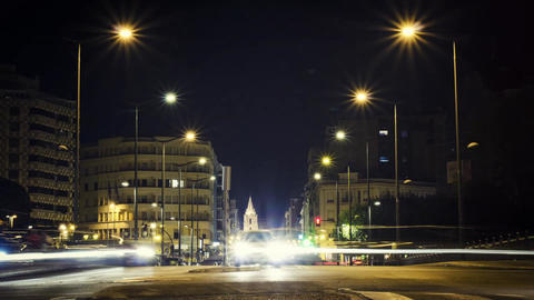 City traffic at night time lapse Footage