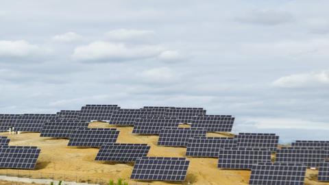 Solar panels time lapse 4K Footage