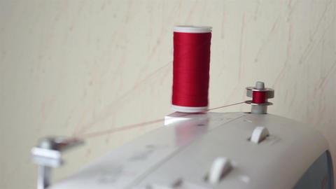 Bobbin Winding on a Sewing Machine Live Action