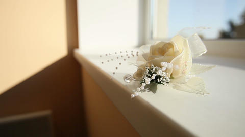 white rose boutonniere Footage