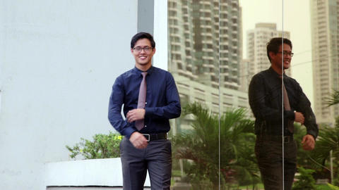 2of 10 Portrait of proud , confident asian busines Footage