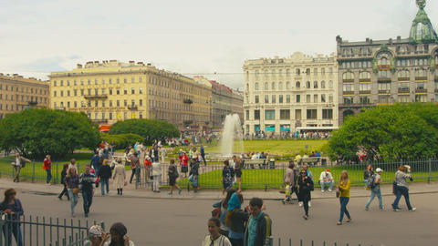 ST. PETERSBURG. RUSSIA - CIRCA JUN 2014: Nevsky Pr Footage
