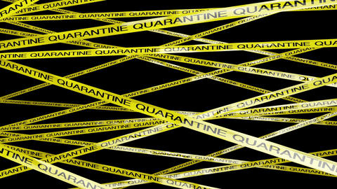 Quarantine Signs 4 Matte stock footage