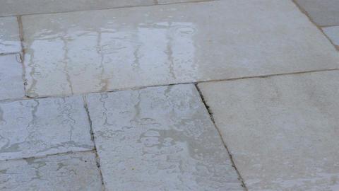 Rain Drops At Stone Street stock footage