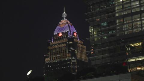 Medium - Far glory financial center at night Footage