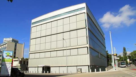 ITU In Geneva stock footage